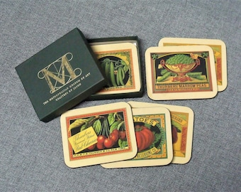 Vintage Metropolitan Museum of Art Coaster Set