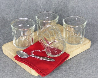 Set of 4 Vintage French Jam Jars