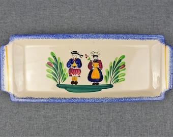 Vintage French Breton Cake Serving Plate