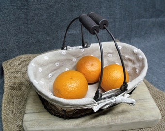 Rustic French Farmhouse Wire Basket