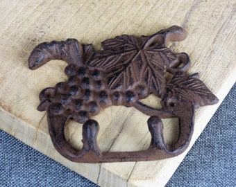 Vintage French Cast Iron Double Wall Hook