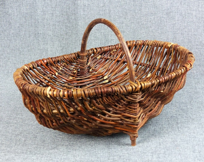Featured listing image: Vintage French Wicker Foraging Basket