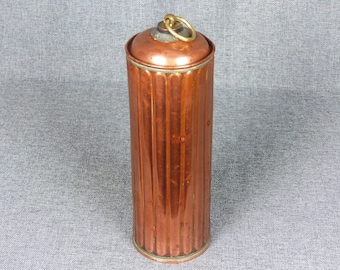 Antique French Copper Hot Water Flask