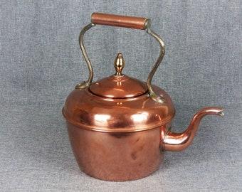 Antique Copper Farmhouse Stove Kettle
