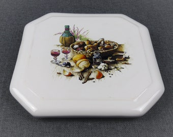 Vintage French Ceramic Trivet