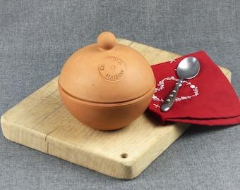 """Vintage French Terracotta Jam Pot - """"Confiture Maison"""""""