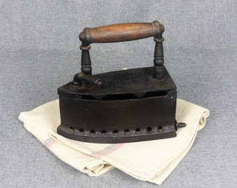 Antique French Box Iron