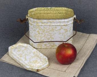 Vintage French Enamel Lunch Box