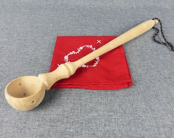 Large French Provence Farmhouse Olive Scoop