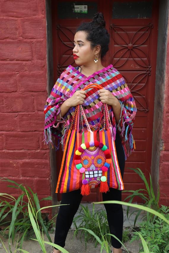 Handmade Mexican Sugar Skull Tote Bag Handbag Purse Dia de los Muertos Catrina