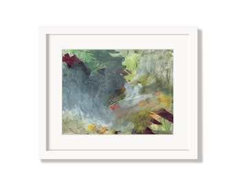 Colorful Moody Art Print from an Original Abstract Painting