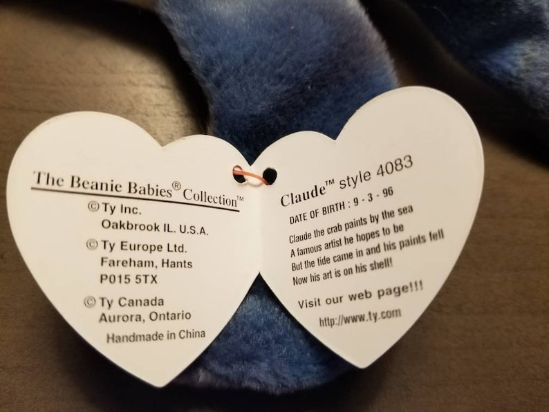 Claude the Crab TY Beanie Baby Errors on Tag Original Rare  d480fcb72310
