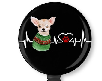 I205  Chihuahua Badge Reel