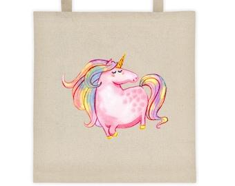 Cute and Colorful Unicorn/Shooting Star Rainbow Tote bag