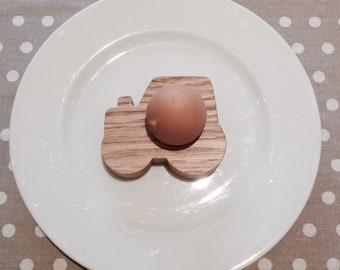 Tractor wooden eggcup