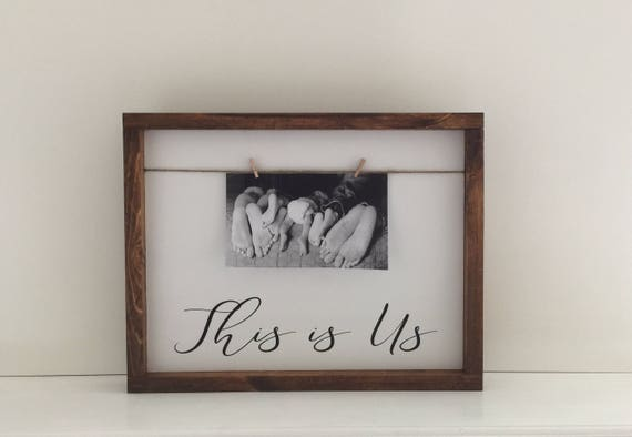 This Is Us Photo Frame Wood Sign This Is Us Painted Wood Etsy