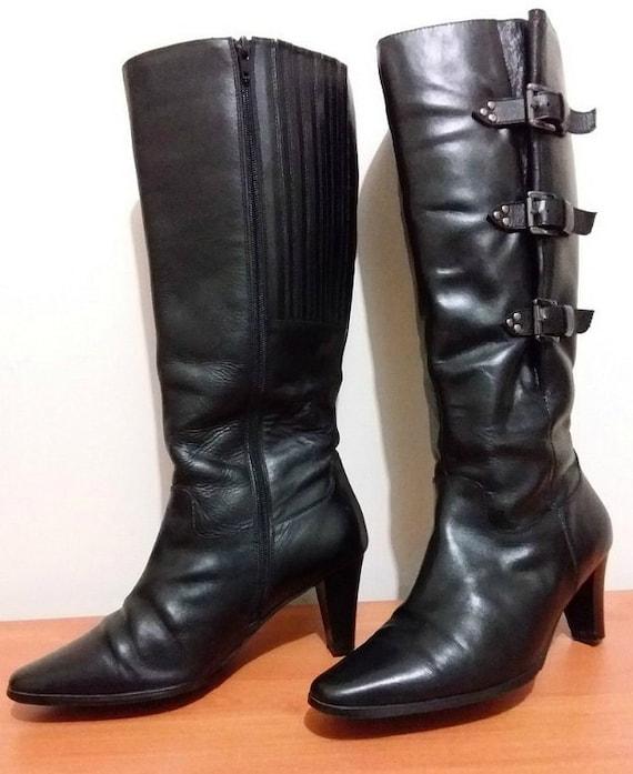 Black high heeled ladies genuine