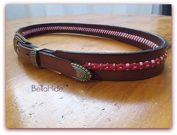 Artisan leather belt, handcrafted belt, unisex lac