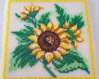 Sunflower Perler Bead Sun Catcher