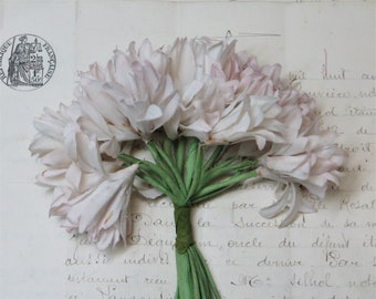 Brown Hat Bouquet Rose Lilly Geranium Bouquet 1940 1950 pill box Antique Ribbon Trim Grosgrain Petersham 1950 PURPLE MILLINERY FLOWER Tag