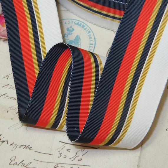 "10 yard  spool 5//8/"" vintage Silk Cotton yellow petersham grosgrain ribbon hat"