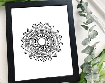 French-Inspired Mandala Art Print