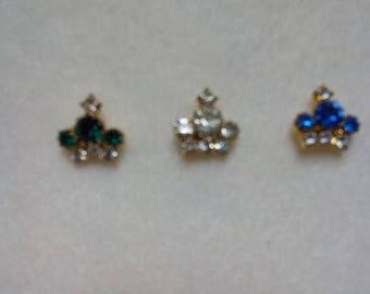 Set of Three Vintage Crown Scatter Pins