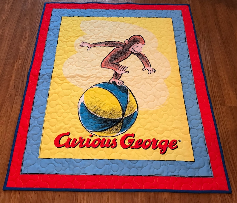 Curious George Quilt Panel