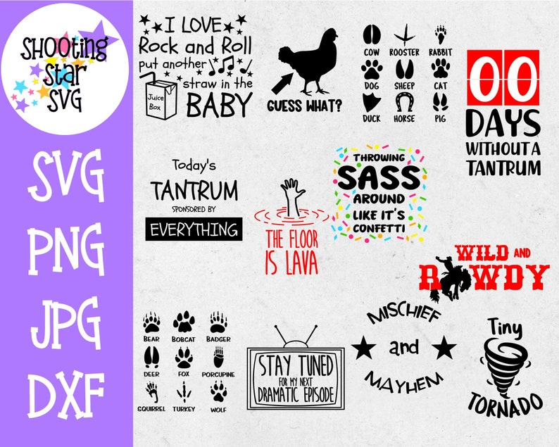 Children/'s Funny T-Shirt SVG Bundle Children/'s SVG Sassy SVG