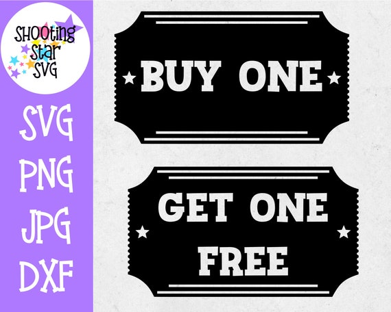Buy One Get One Free Movie Ticket Twin Bodysuit Svg Etsy