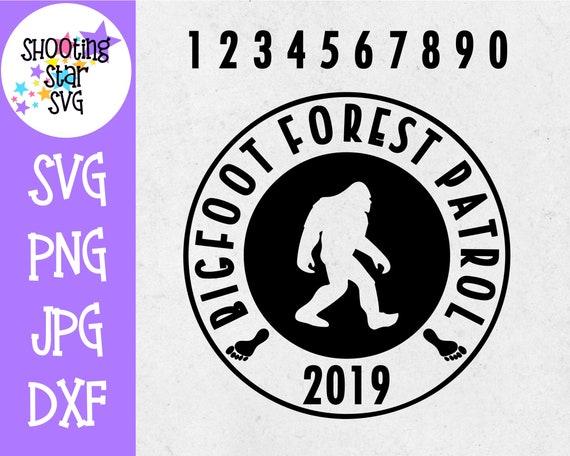 Bigfoot Forest Patrol Svg Sasquatch Svg Outdoors Svg Etsy