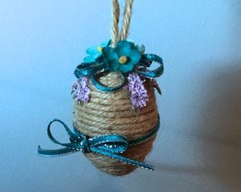 Natural Jute Spring Egg - Small