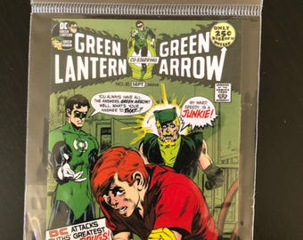 Green Lantern & Green Arrow Comic Cover Fridge Magnet
