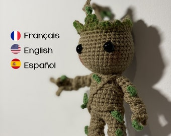 Free Crochet Pattern: Potted Baby Groot from Guardians of the ... | 270x340