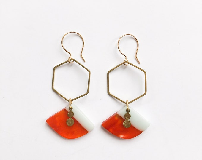 Contemporary Handmade Resin Earrings Tangerine Dreams - from our Swinging Sisters range of original handmade resin earrings