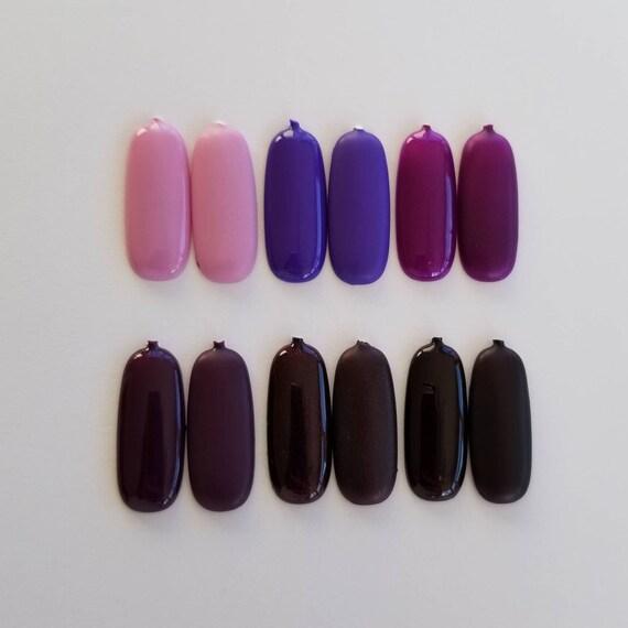 Special Set Purple Press On Nail Nail Art Fake Nails Etsy