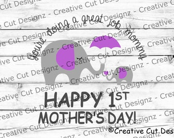 Free I love you very much. 1st Mothers Day Svg Etsy SVG, PNG, EPS, DXF File