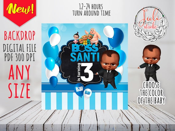 Baby Boss Backdrop Print Yourself African American Boss Baby Etsy