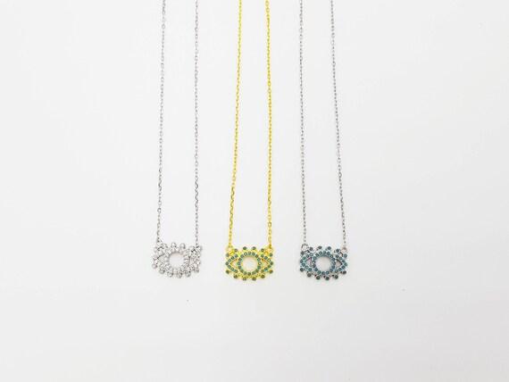 evil eye necklace, eye choker, gold necklace, turkish eye, mati necklace,  greek evil eye, dainty necklace