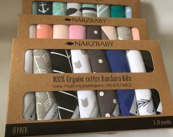 f0559e0c29fa7 Narzbaby Bandana Bibs (8-Pack)Bibs