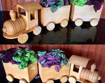 Train Planter Etsy