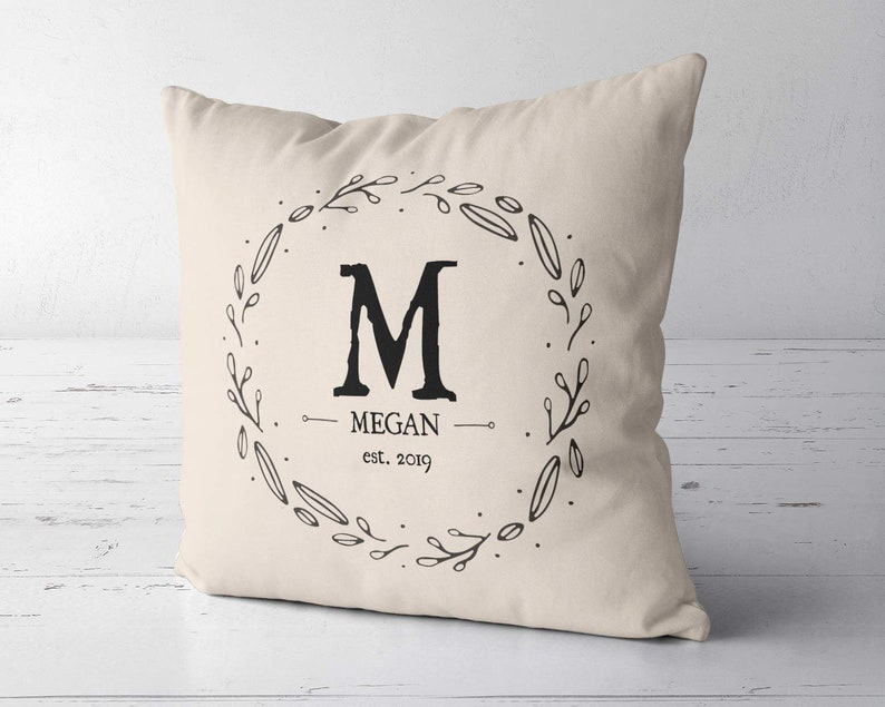 Monogram pillow case