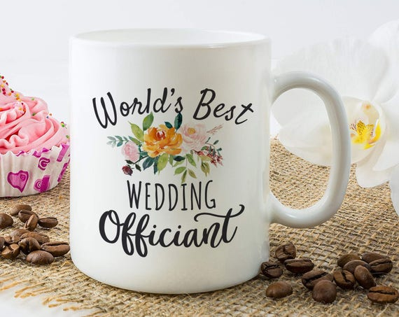Wedding Officiant Mug Wedding Officiant Gift Officiant Gift Etsy