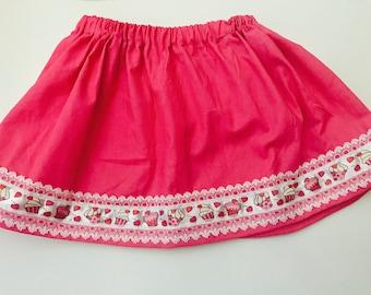 Girls Size 4 Handmade Cupcake Twirly Skirt