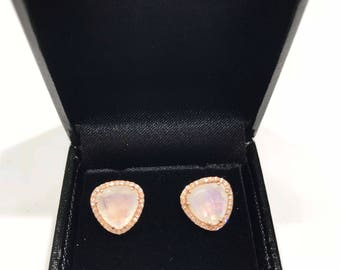 Organic Shape Moonstone Earring