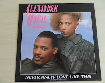 """12"""" Alexander O'Neal feat Cherrelle Never Knew Love Like This (Extended Version) 651382 6"""