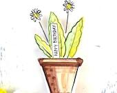Birthday Flowerpot pottery ornament