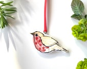 Robin pottery hanging ornament