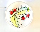 Holly tiny pottery pinch bowl/ ceramic gift food safe