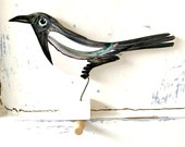 Magpie pottery ornament / bird ceramic gift